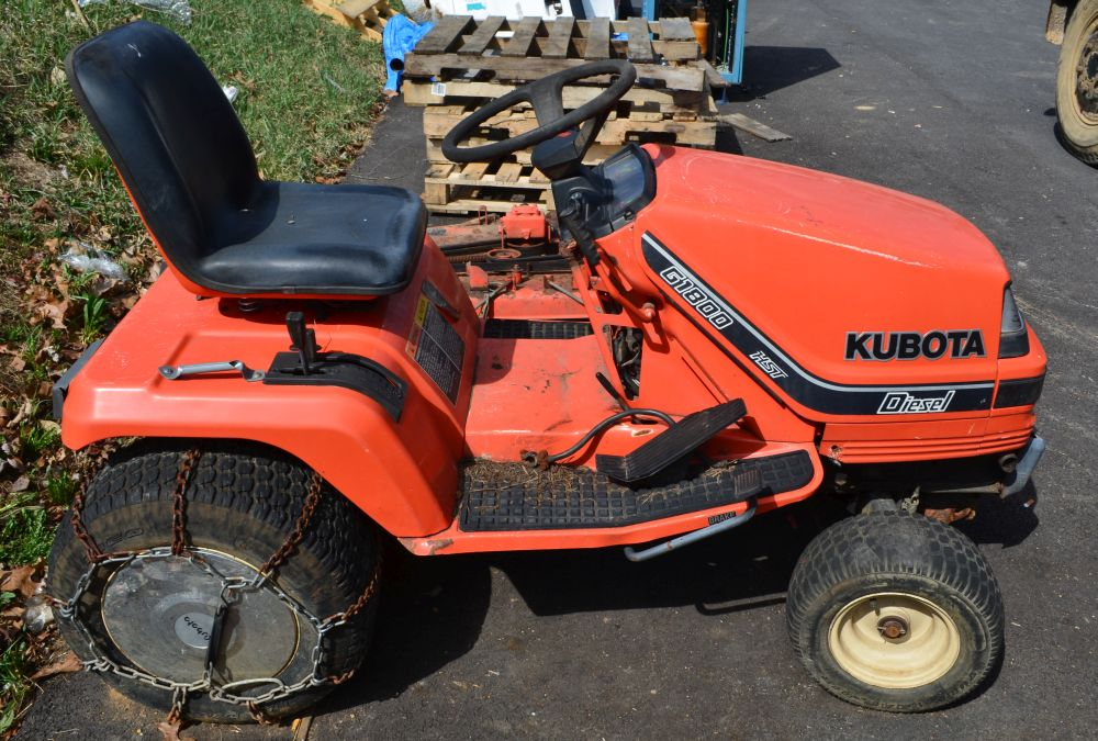 Kubota Riding Mower Parts : Kubota g quot cylinder hp diesel riding lawn