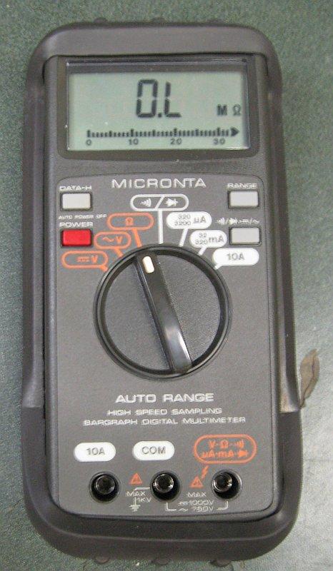 Radio Shack Multimeter : Micronta multimeter